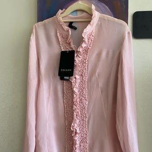 NWT$1095 Natassia  Rose 100% silk Eu 36 US 10-12